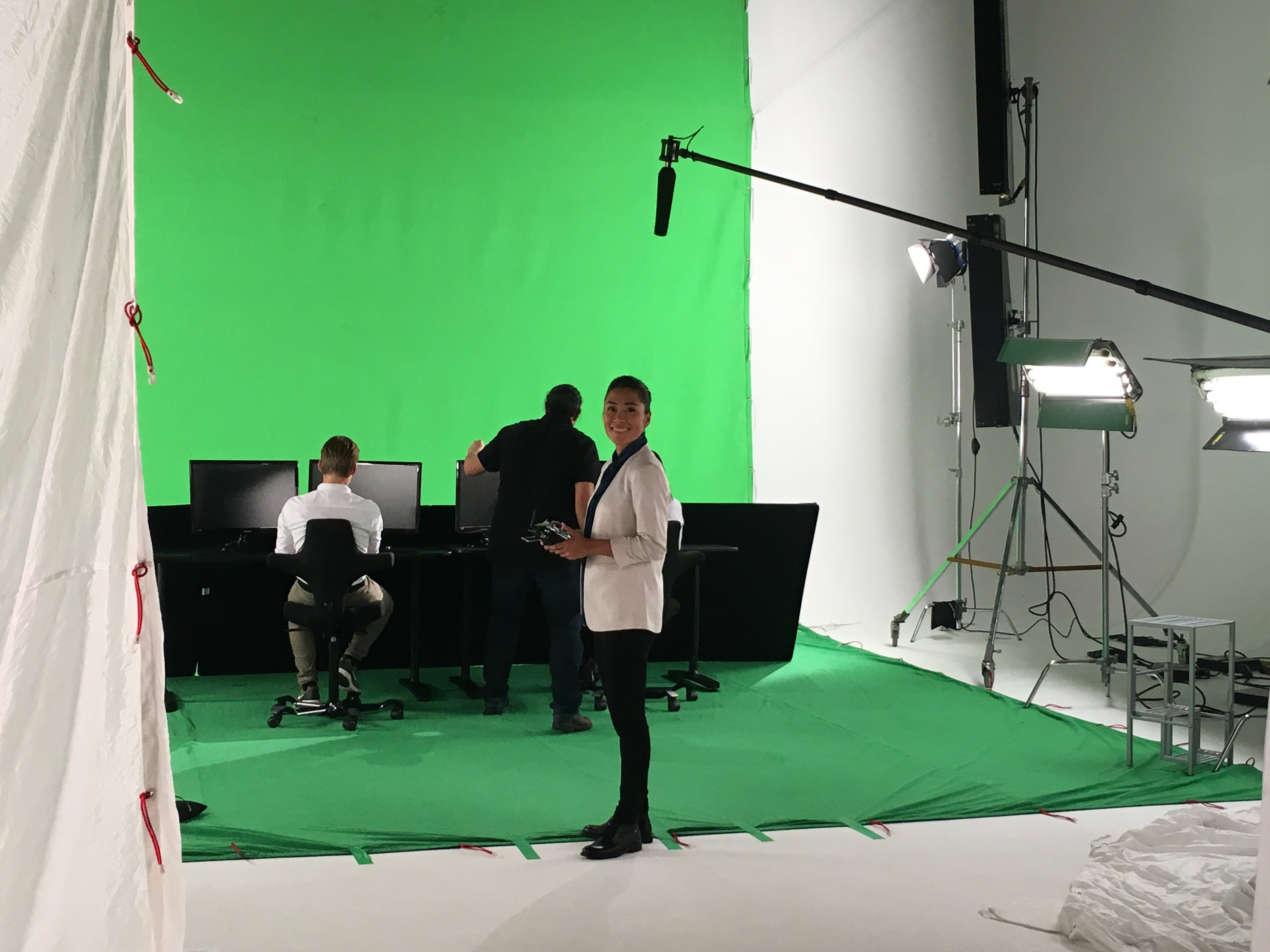 Behind the scenes: shooting on green screen